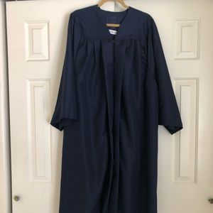 """Navy Graduation Cap and Gown for 5'4""""-5'6"""""""